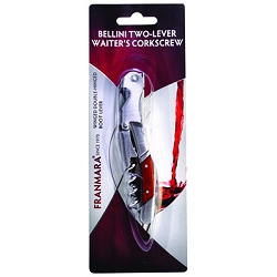 Bellini Waiter's Corkscrew with Rosewood Handle (Carded) formerly 34-3286