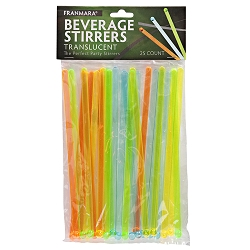 Beverage Stirrers, Translucent (25 Count)