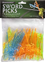 Sword Picks Translucent (160 Count)