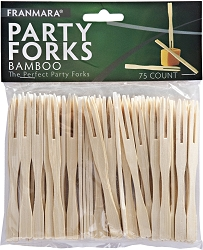 Bamboo Party Forks (75 Count)