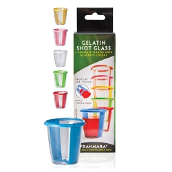 Gelatin Shot Glass, set of 6, carded