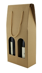Wine Gift Box, 2 Bottle with Window