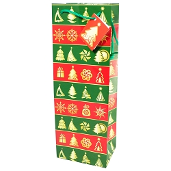 Wrapping Paper Holiday Wine Gift Bags, 12 per pack