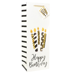 BIrthday Candles Bottle Gift Bags