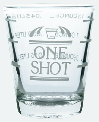 2 oz. Professional Grade Shot Glass with Lines  (Bulk) Formerly 10-8032