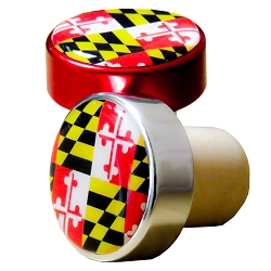 Aluminum Top Bottle Stoppers with Maryland Flag (Bulk) formerly 10-8097MD