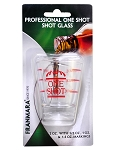 Franmara 2 oz. Professional Grade Shot Glass with lines (Carded) formerly 34-8032