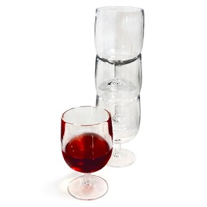 Plastic, Stackable Wine Glasses (Set of 4) Formerly 20-8553Set